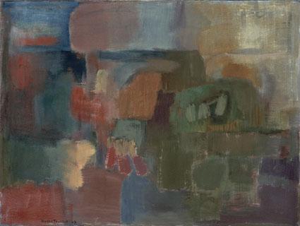 Hilkka Toivola: Kesäyö (1963), öljy kankaalle, 85 x 113 cm, talletus WAM - Kuva Toni Vuori